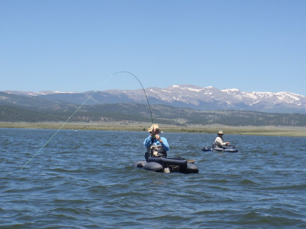 Guided fly fishing trips guided float fishing or wade fly for Antero reservoir fishing