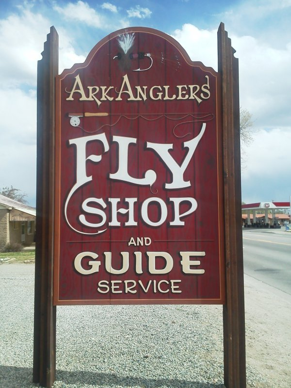 ArkAnglers Fly Shop sign